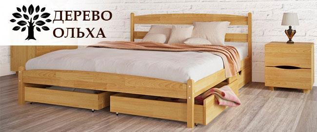 Кровать дерево ольха