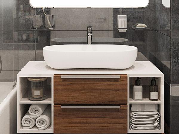 Як вибрати тумбу з умивальником для маленької ванної?