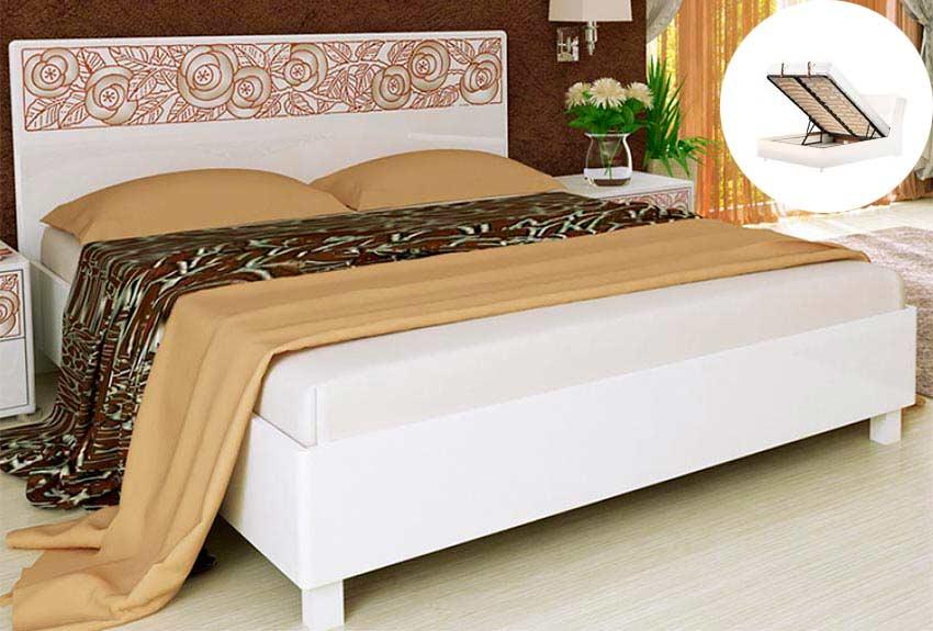 Преимущества кровати с подъемным механизмом