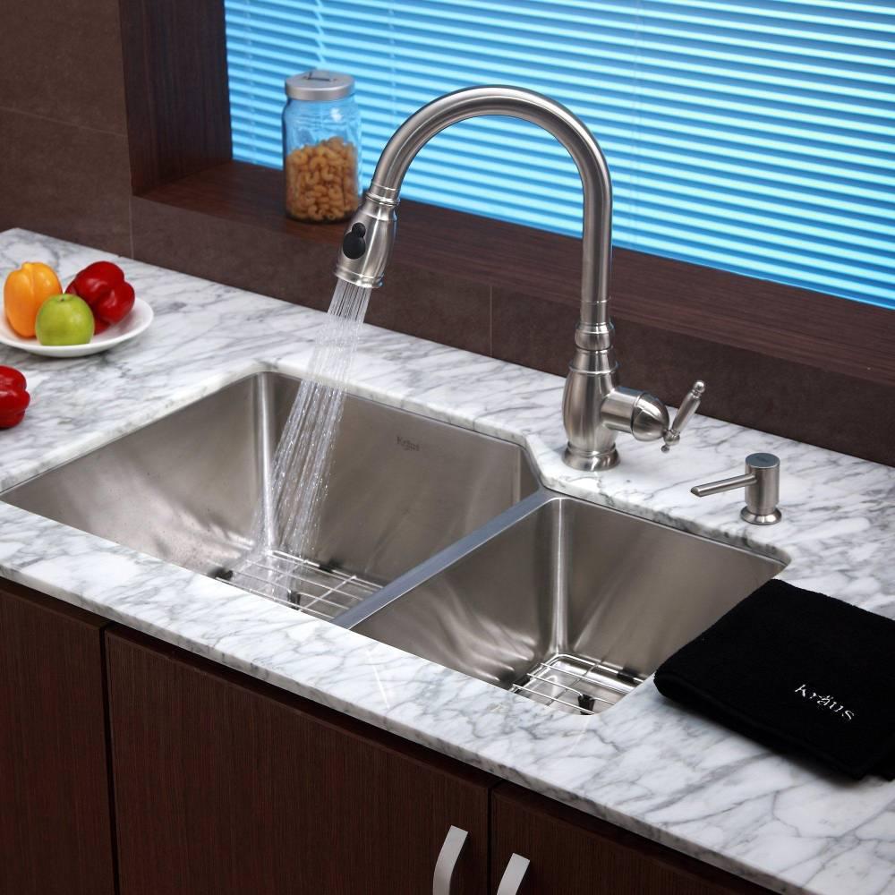 Изучаем конструкцию сопла на кухонном смесители