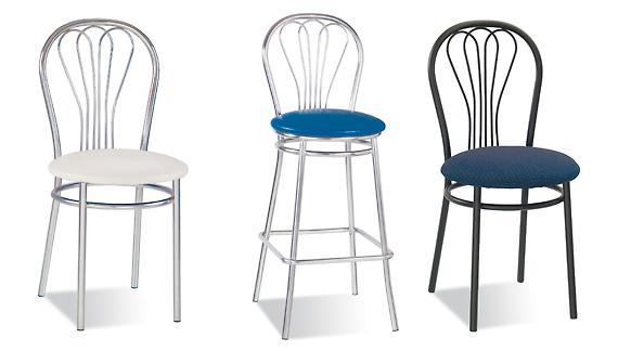 Металлические стулья в современном интерьере