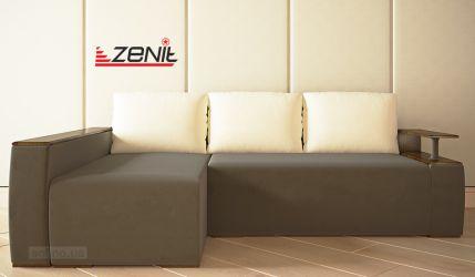 Отсутствие подлокотников на угловом диване – плюс или минус