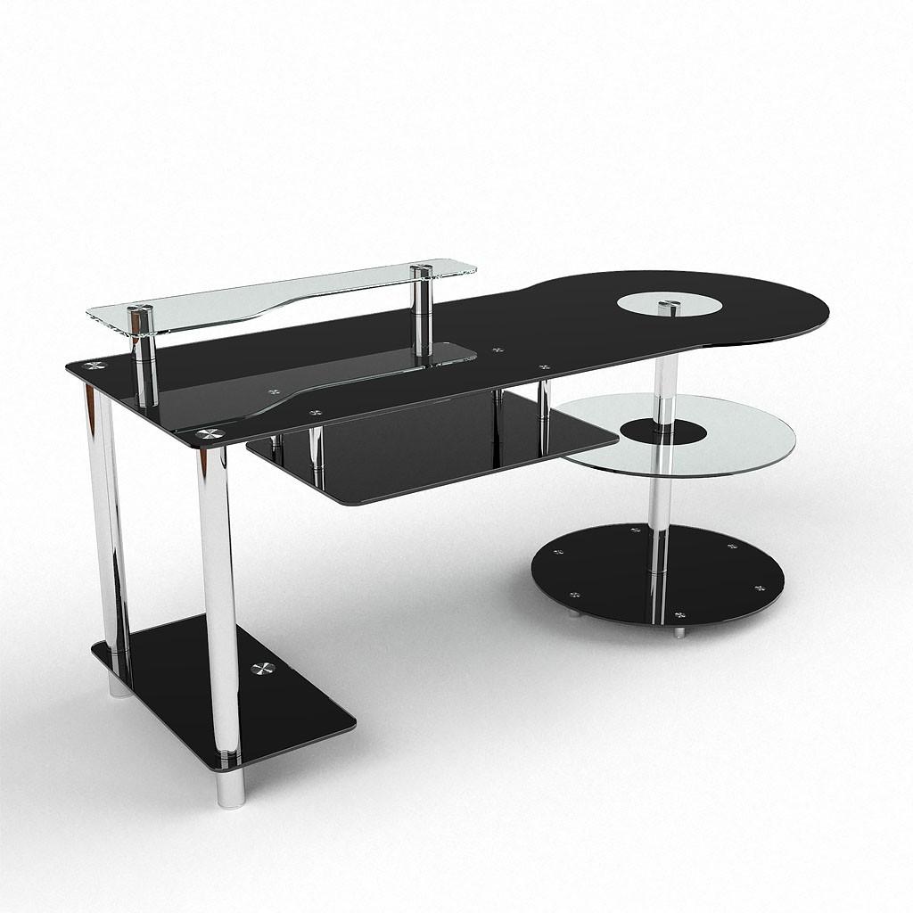 Стеклянные компьютерные столы – особенности конструкции