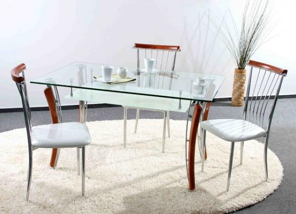 Стеклянный стол – модная тенденция в дизайне интерьера