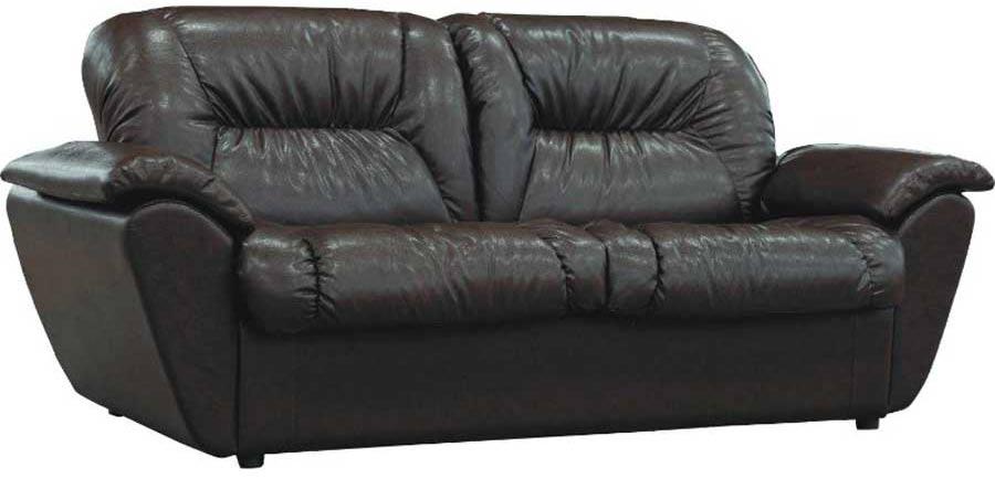 Солидность и простата кожаного дивана