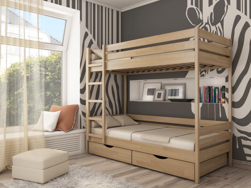 Двухъярусные кровати деревянные