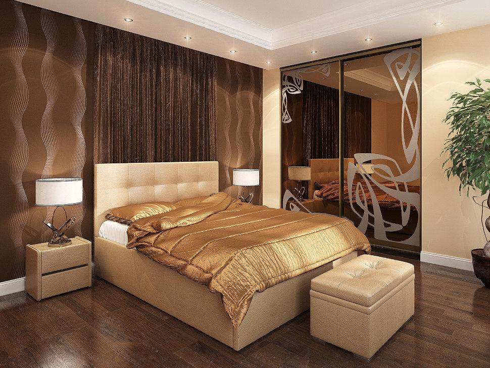Спальная комната, меблированная в классическом стиле