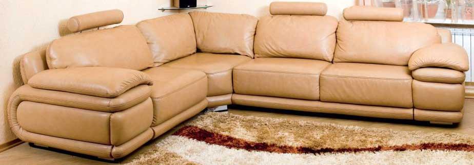 Кожаный угловой диван: выбираем стиль и роскошь