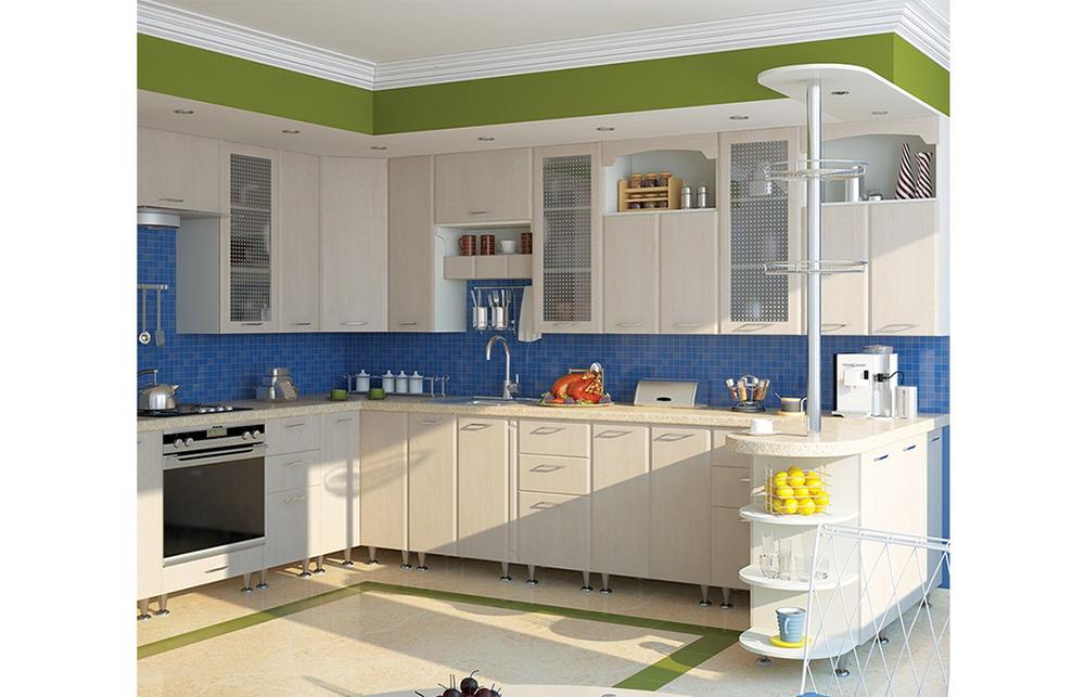 Кухня угловая «София» фасад Престиж  цвет цинамон