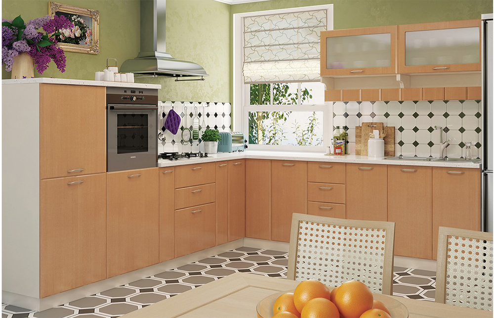 Кухня угловая «София В-3» фасад Градо  цвет бук