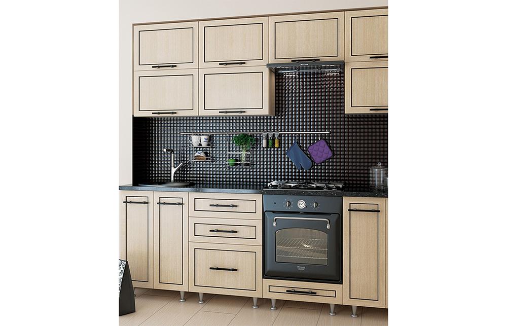Кухня угловая «София В-5» фасад Плаза  цвет венге светлый