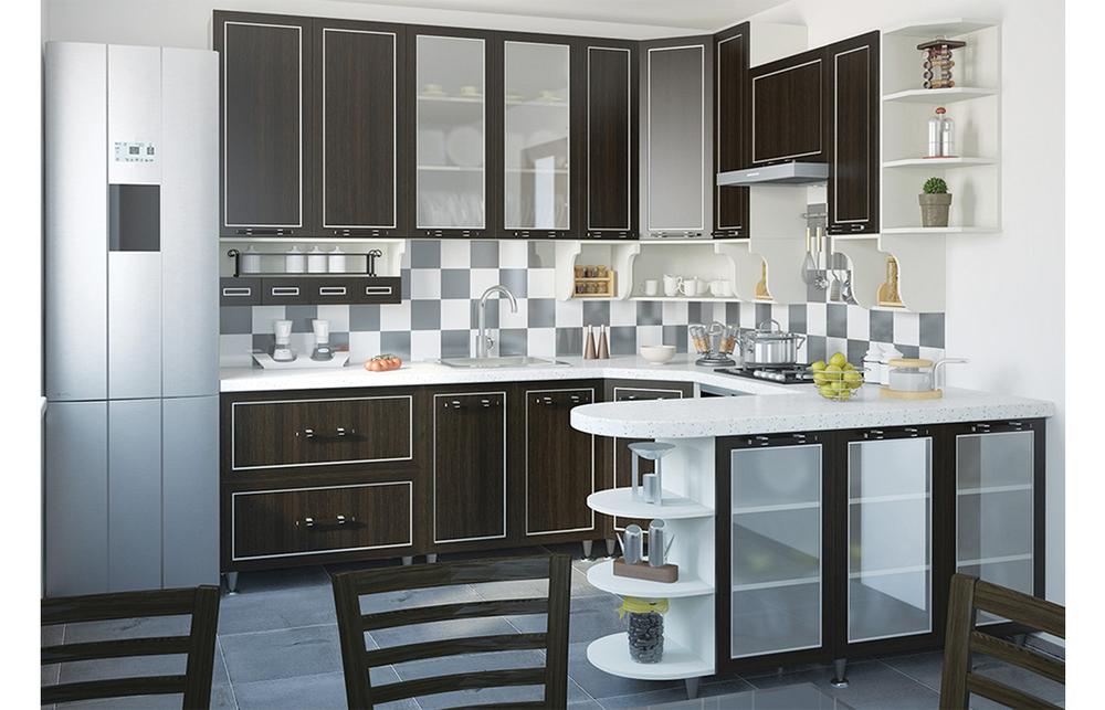 Кухня угловая «София» фасад Плаза  цвет плаза