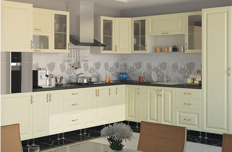 Кухня угловая «София» фасад Романтика цвет ваниль