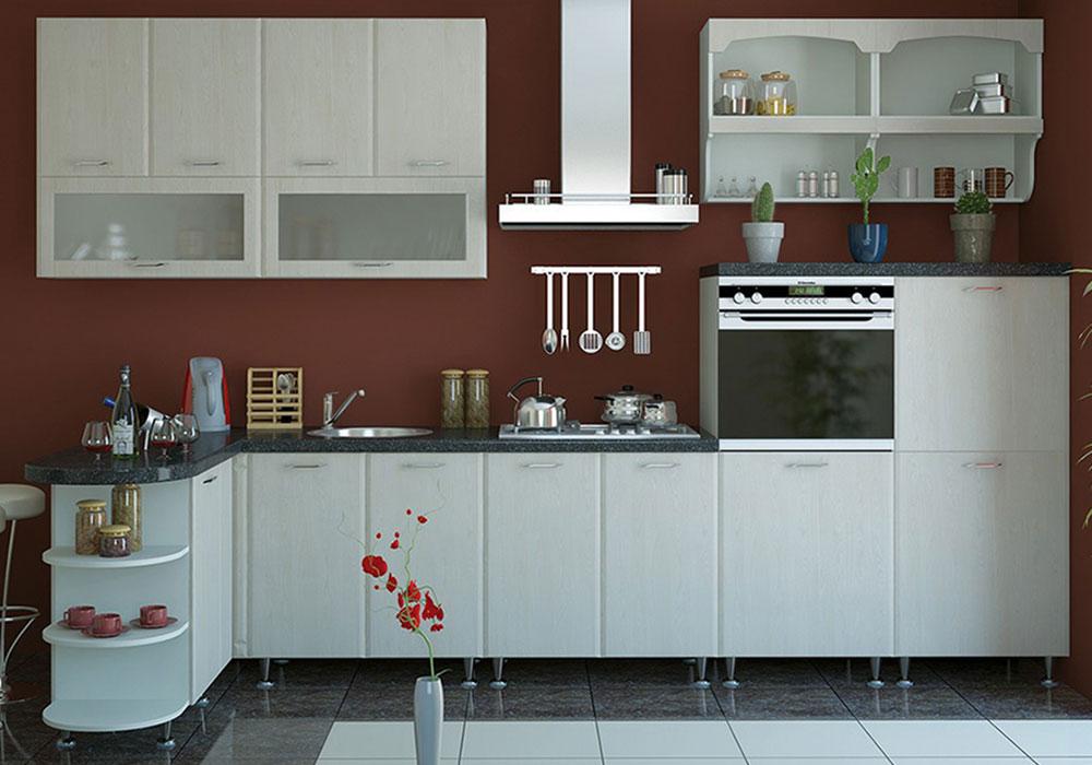 Кухня угловая «София» фасад Градо цвет цинамон