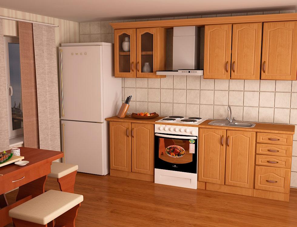 Кухня прямая «Оля» 2м