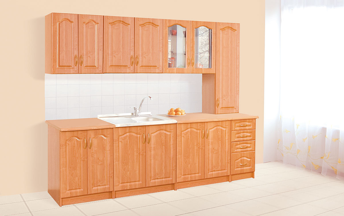 Кухня прямая «Оля П» 2,6м