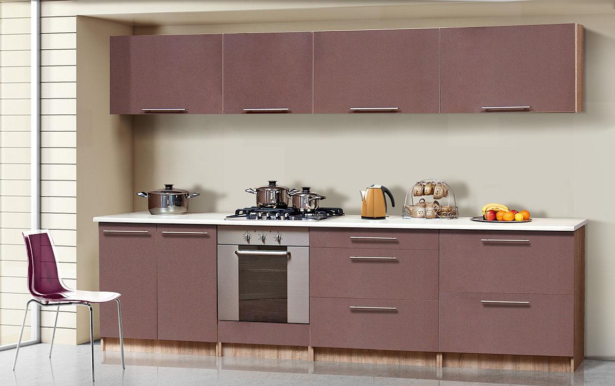 Кухня прямая «Сона-2» мокко