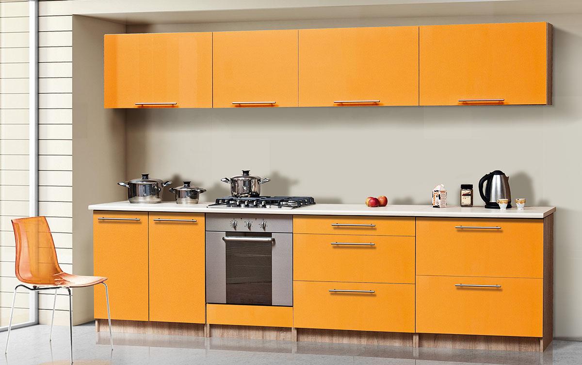 Кухня прямая «Сона-2» оранж