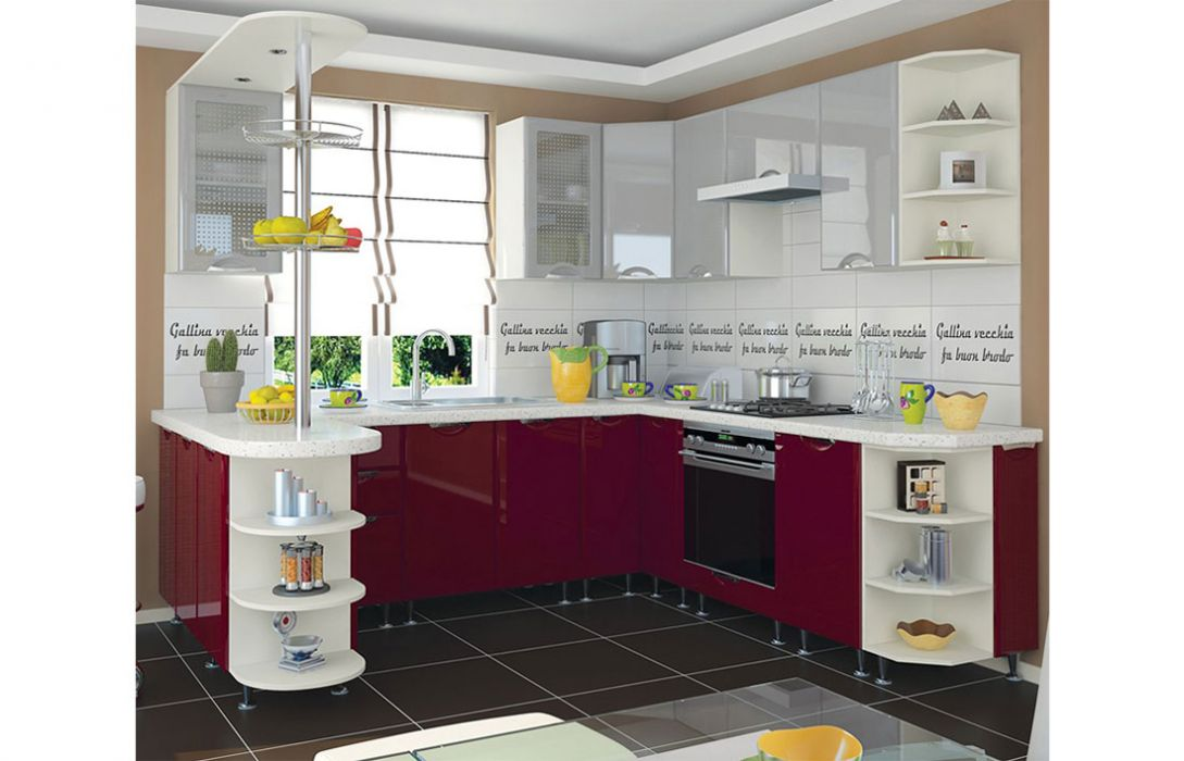 Кухня угловая «Люкс 5,8м» Сокме