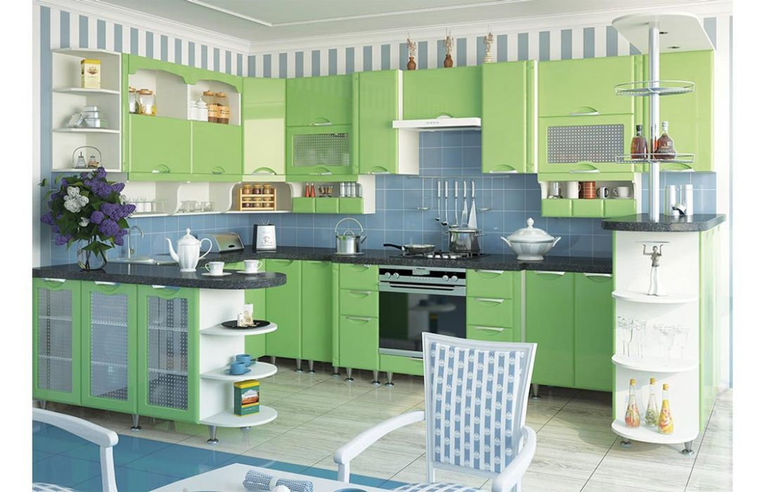 Кухня угловая «Люкс 6,2м» Сокме