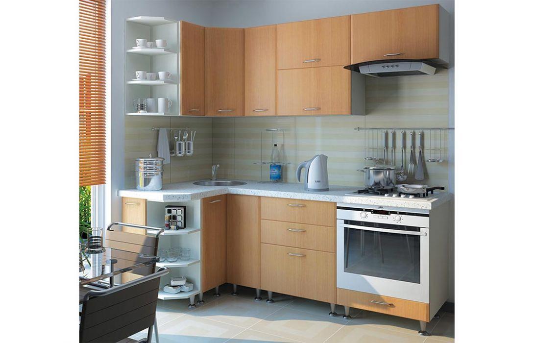 Кухня угловая «Градо черный орех 3,3м» Сокме