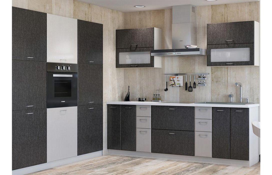 Кухня угловая «Градо черный орех 4,4м» Сокме