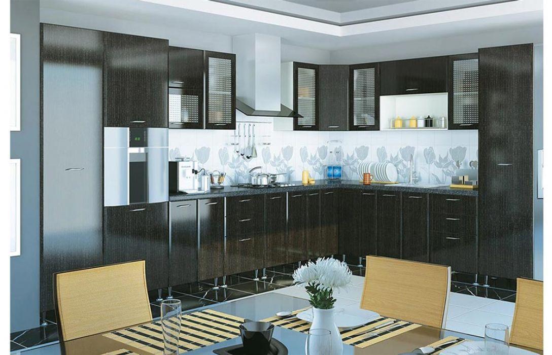 Кухня угловая «Градо черный орех 6,4м» Сокме