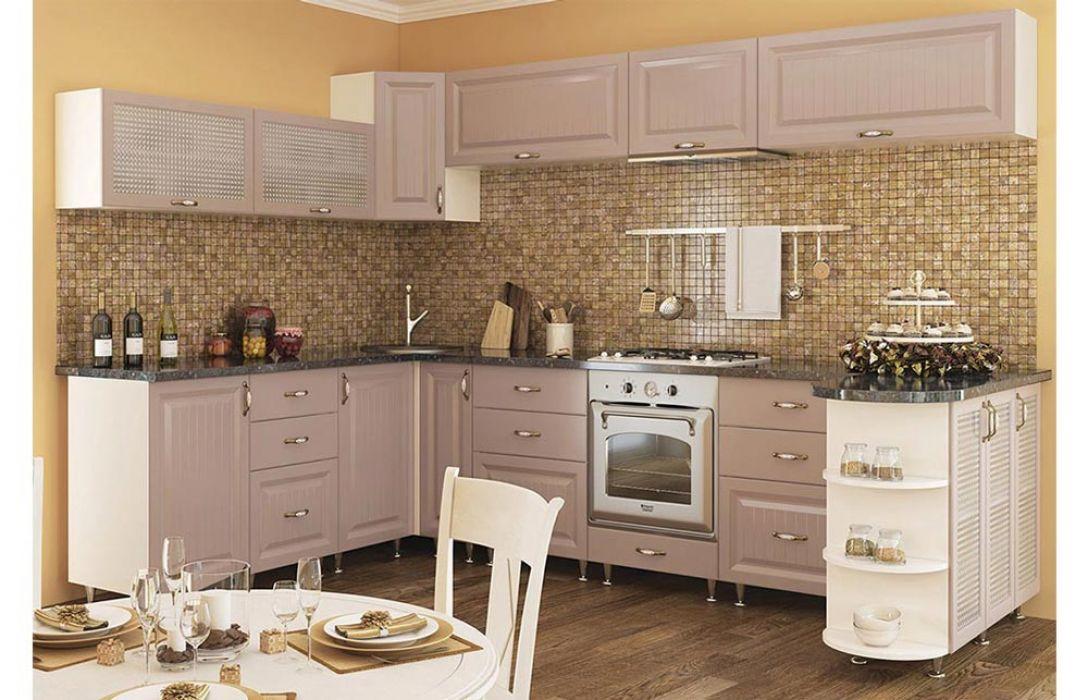 Кухня угловая «Романтика капучино 5,1м» Сокме