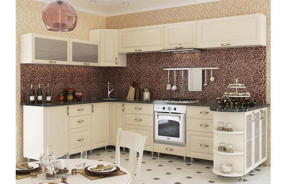 Кухня угловая «Романтика 5,1м» Сокме