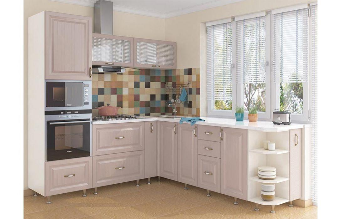Кухня угловая «Романтика капучино 3,3м» Сокме