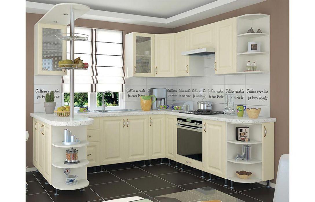 Кухня угловая «Романтика 6м» Сокме