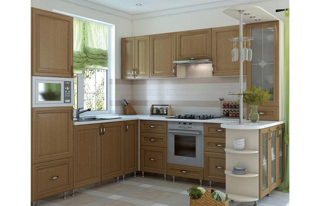 Кухня угловая «Классика шпон 3,8м» Сокме