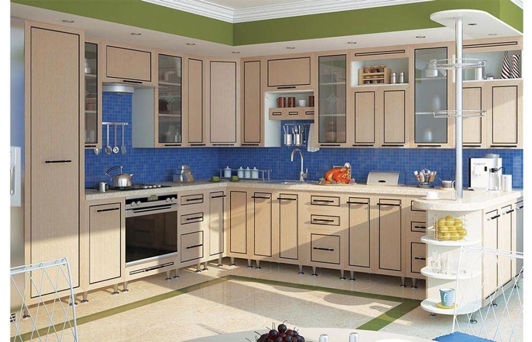 Кухня угловая «Плаза 7,2м» Сокме