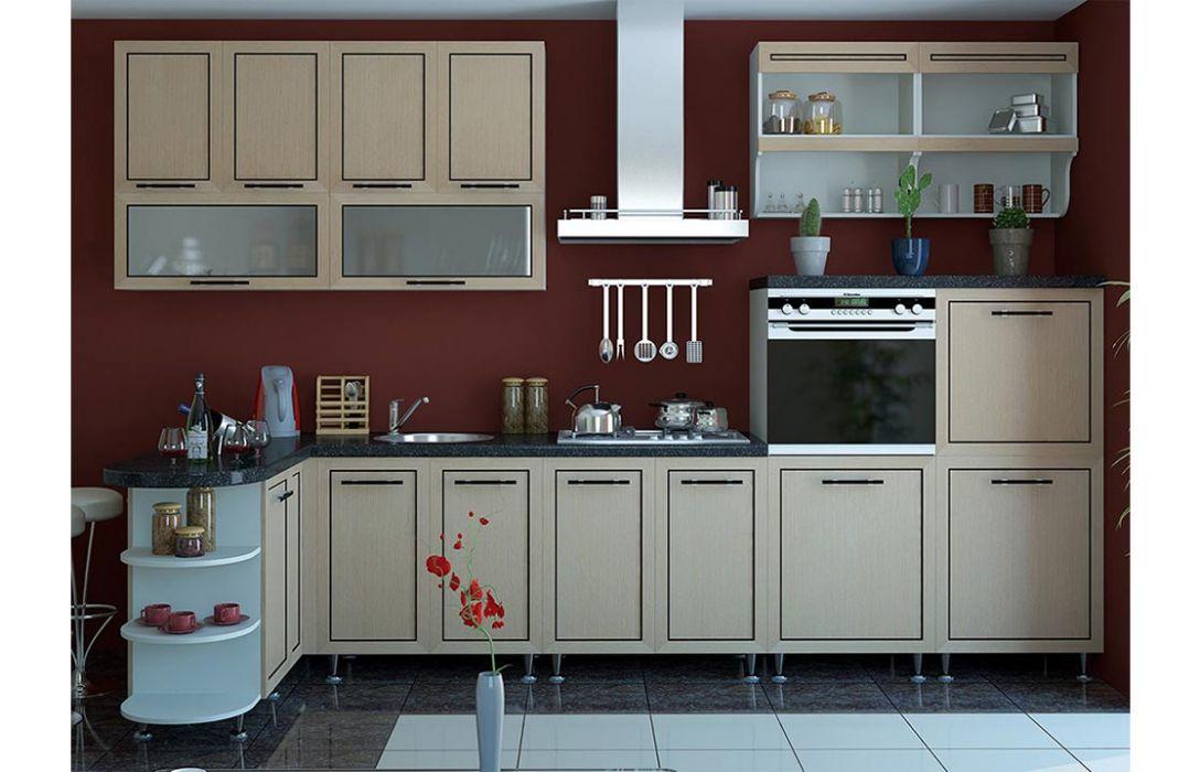 Кухня угловая «Плаза 4,3м» Сокме