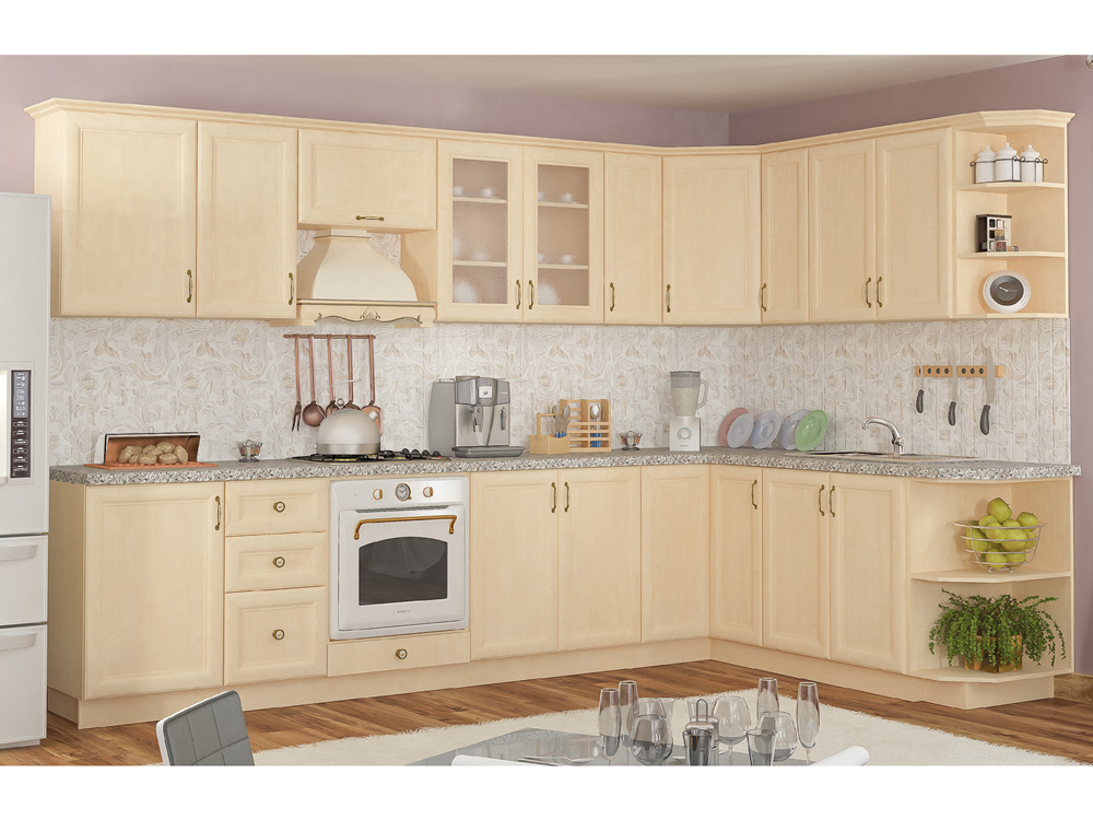 Кухня угловая «Роял 2м*3,2м Клен» МС