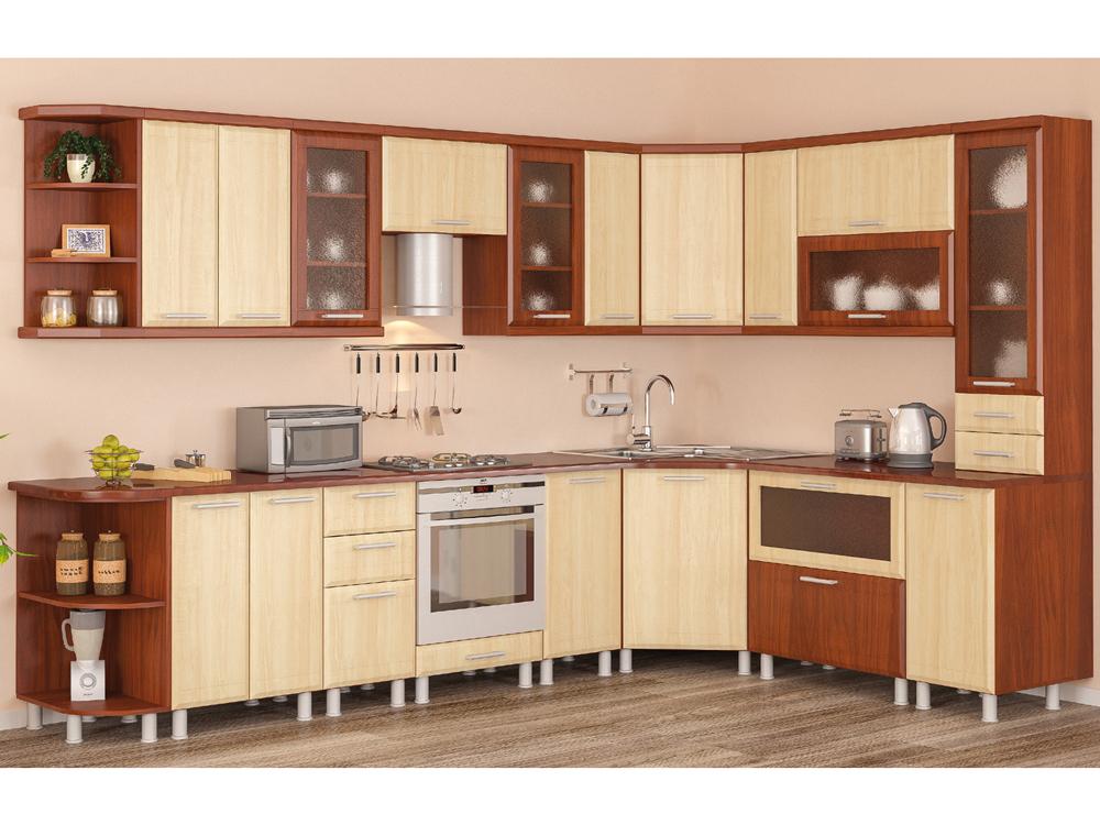Кухня угловая «Тера-плюс 2,1м*2,9м Груша» МС