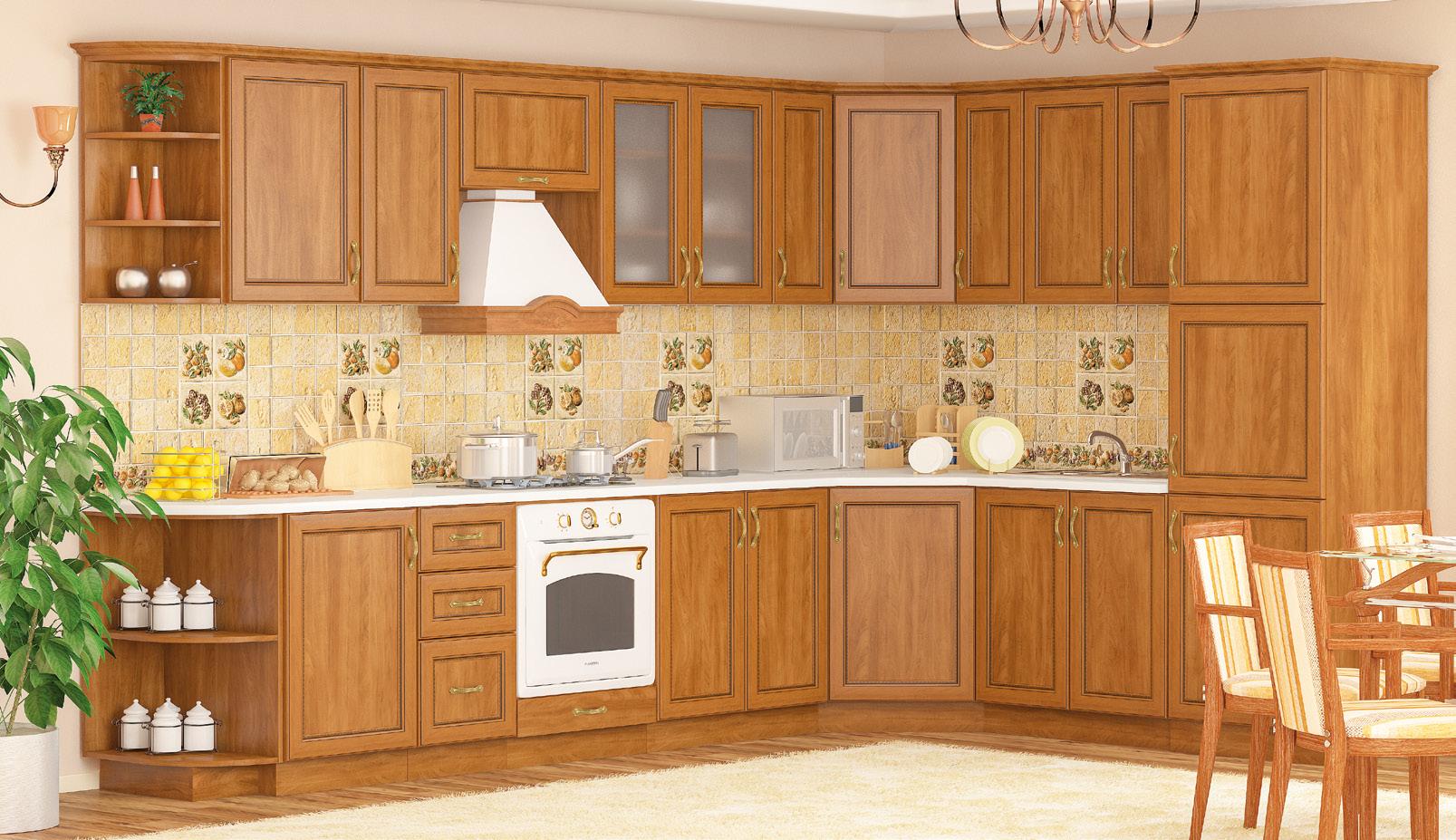 Кухня угловая «Ника рамка» МС