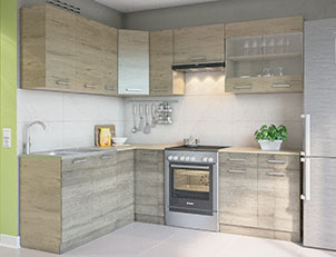 Кухня угловая «Марта» 1,7м*2,3м СМ