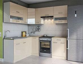 Кухня угловая  «Алина 1,7м*2,3м крем» СМ