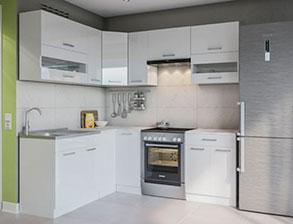 Кухня угловая  «Алина 1,7м*2,3м белая» СМ