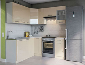 Кухня угловая  «Марта 1,7м*1,9м крем» СМ