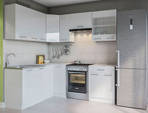 Кухня угловая  «Марта 1,7м*2,1м белый» СМ