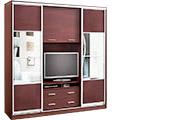 Шкафы купе с нишей под телевизор