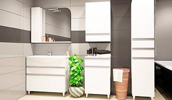 Шкафы и пеналы для ванной