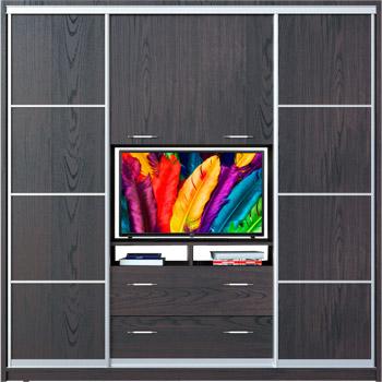 Шафи-купе з нішею під телевізор