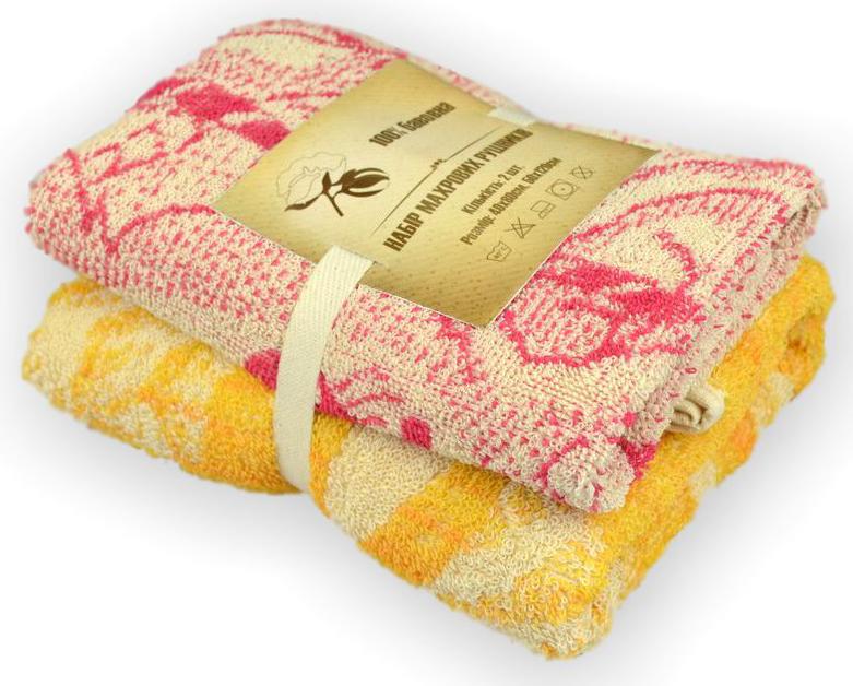 Фото Набор полотенец «Махра» в асор. 40*80 / 50*120 Домашний Текстиль - sofino.ua