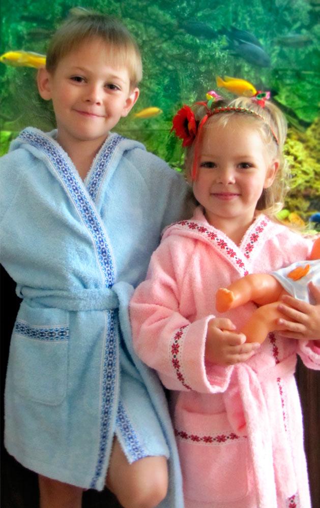Фото Халат детский «Вышиванка 115543» 116 Домашний Текстиль - sofino.ua