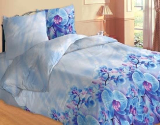 Фото Комплект «Орхидея голубая» полуторный Украиночка - sofino.ua