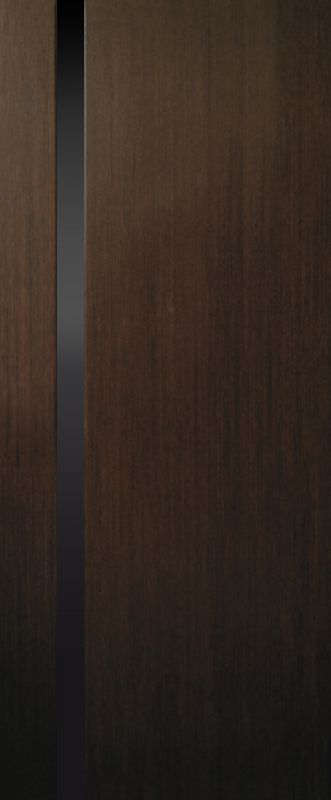 Фото Двери шпонированные «Премьера 1 триплекс черный ПО» 60 Омис - sofino.ua