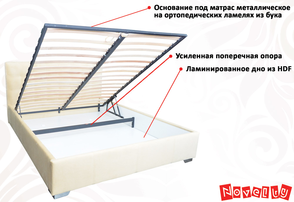 Фото Кровать «Бест» 140*200 каркас + механизм Novelty - sofino.ua